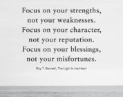 Focus On Your Strengths Not Your Weaknesses